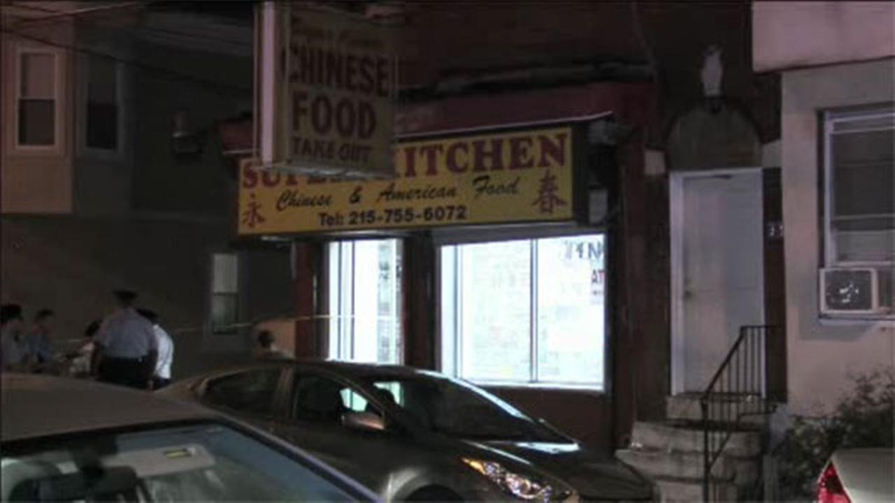 Man shot sitting on restaurant steps in South Philadelphia
