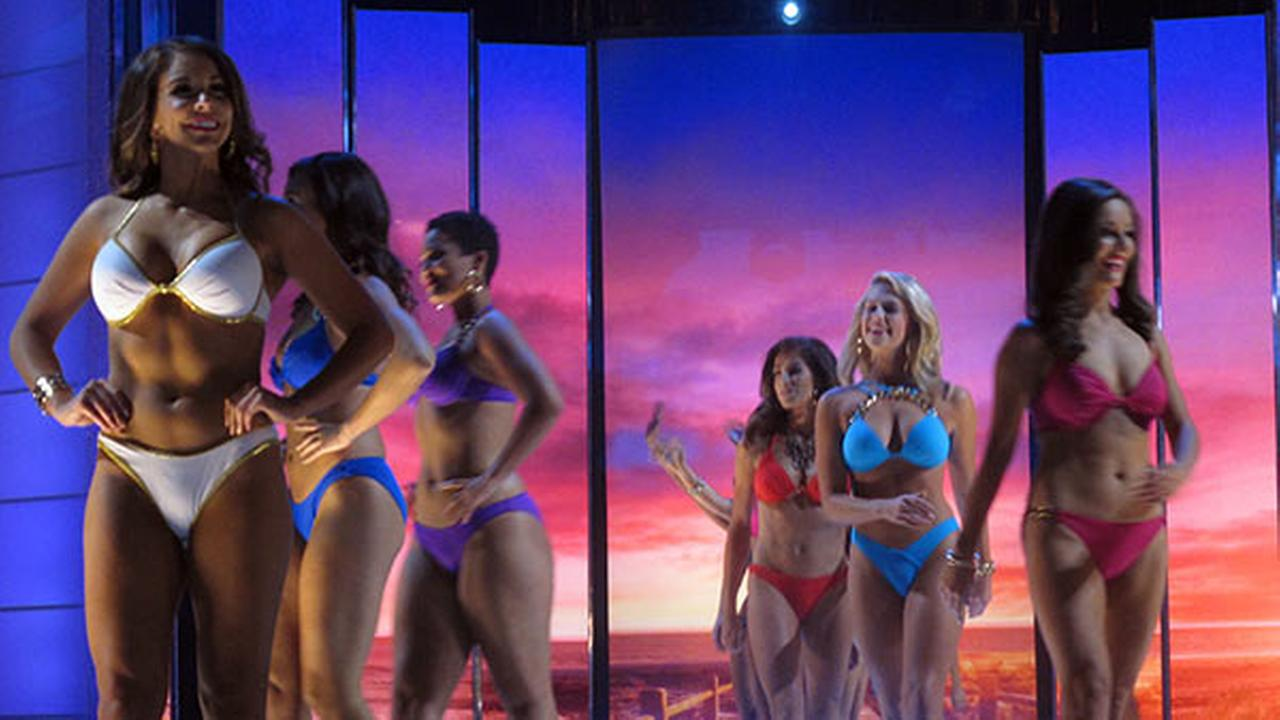 Contestants compete in the swimsuit competition in the third night of preliminary competition in the 2016 Miss America competition Thursday, Sept. 10, 2015 in Atlantic City, N.J.