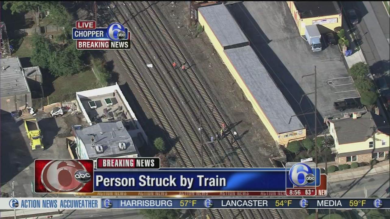 VIDEO: Person struck by train in Delco
