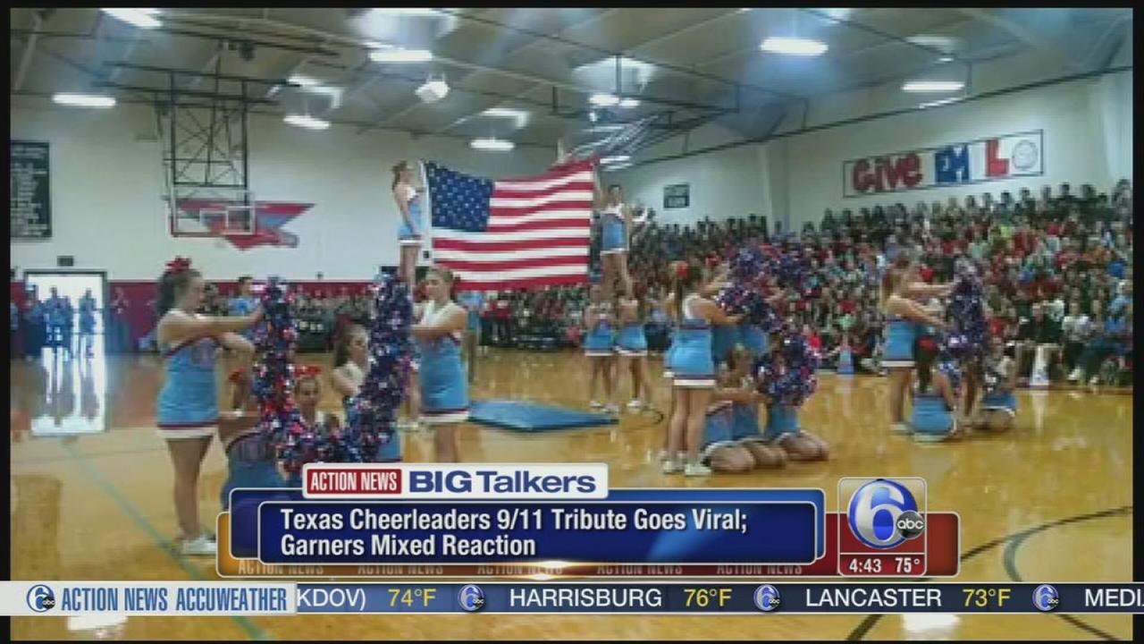 VIDEO: Texas cheerleaders 9/11 tribute goes viral