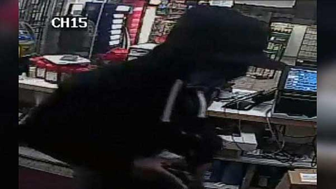 Police are searching for an armed suspect who robbed a West Philadelphia gas station on September 9.