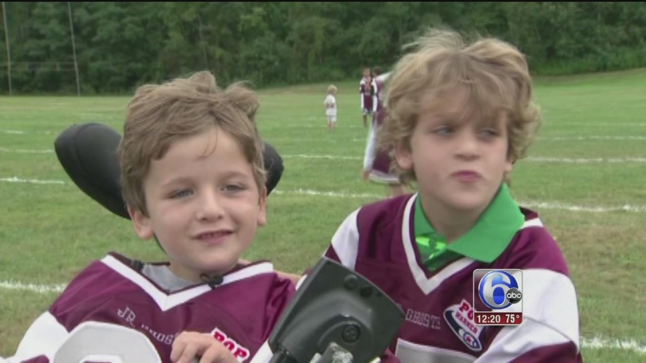 VIDEO: 6-year-old boy in wheelchair scores touchdown