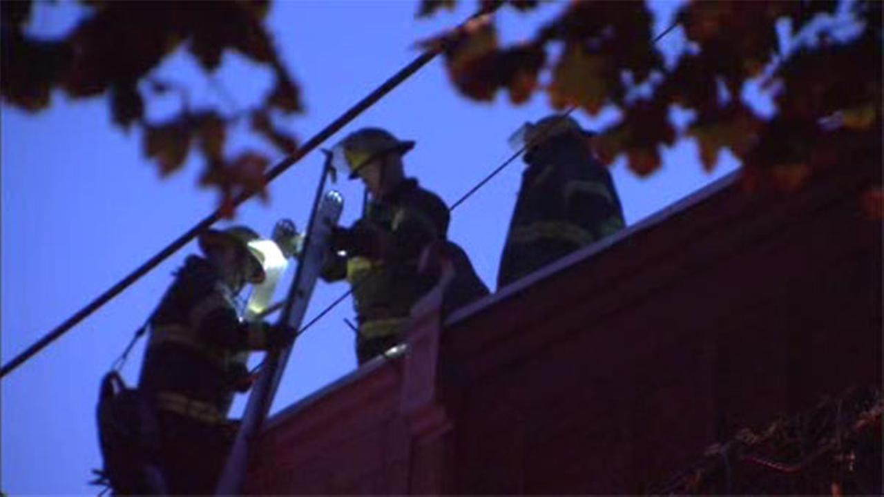Flames damage house in North Philadelphia