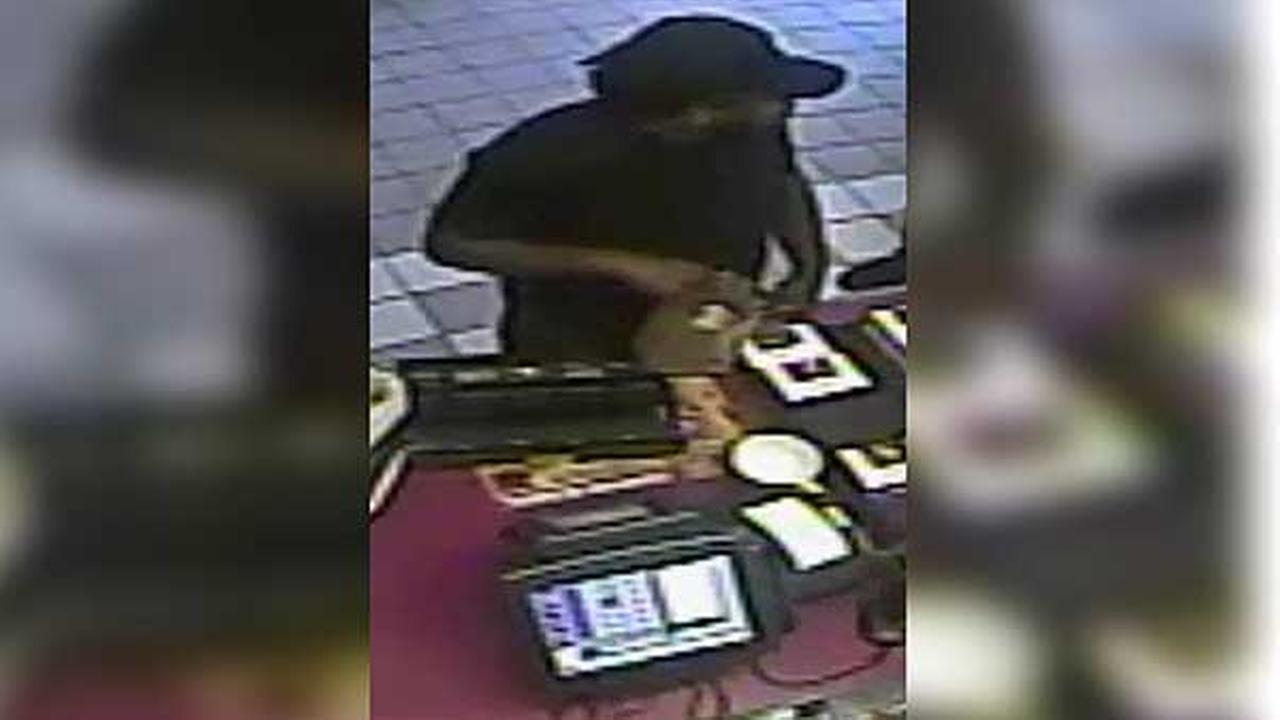 Police are looking to a suspect who robbed a Dunkin Donuts in North Philadelphia.