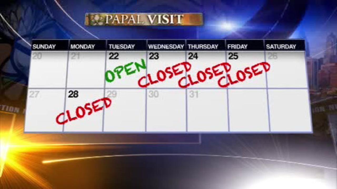 Philadelphia schools closed Monday due to papal visit