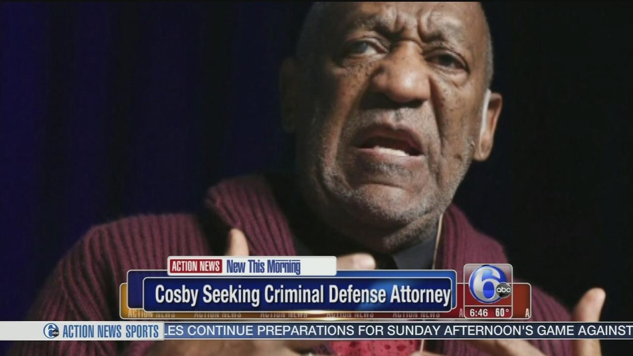 VIDEO: Cosby seeking defense lawyer