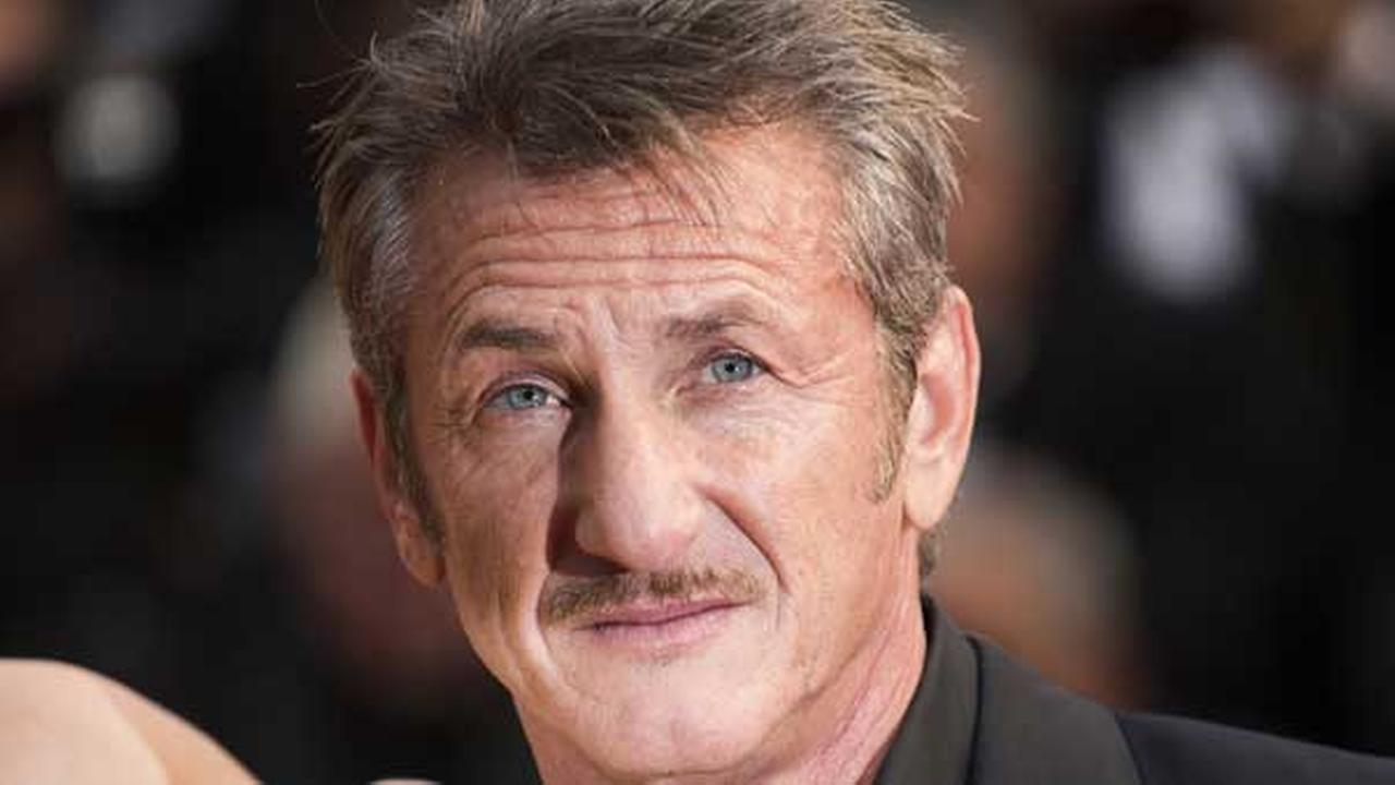 Sean Penn arrives on the red carpet at the screening of the film Mad Max: Fury Road at the 68th international film festival, Cannes, France on Thursday, May 14, 2015.