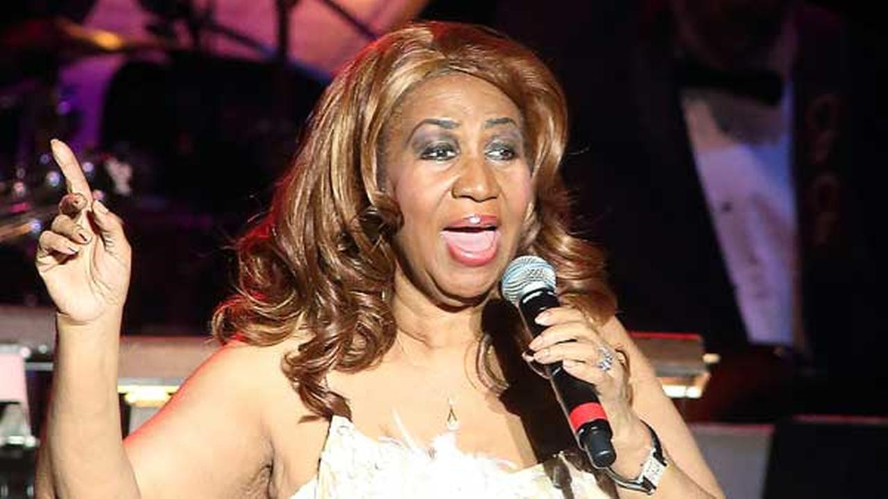 FILE - In this Nov. 13, 2014 file photo, Aretha Franklin performs in concert at The Patricia and Arthur Model Performing Arts Center at The Lyric in Baltimore.