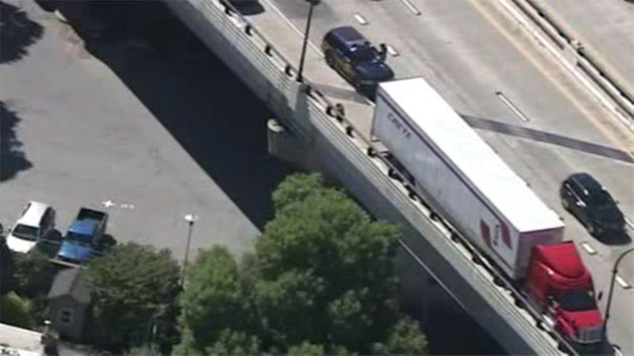 Pedestrian struck by tractor trailer