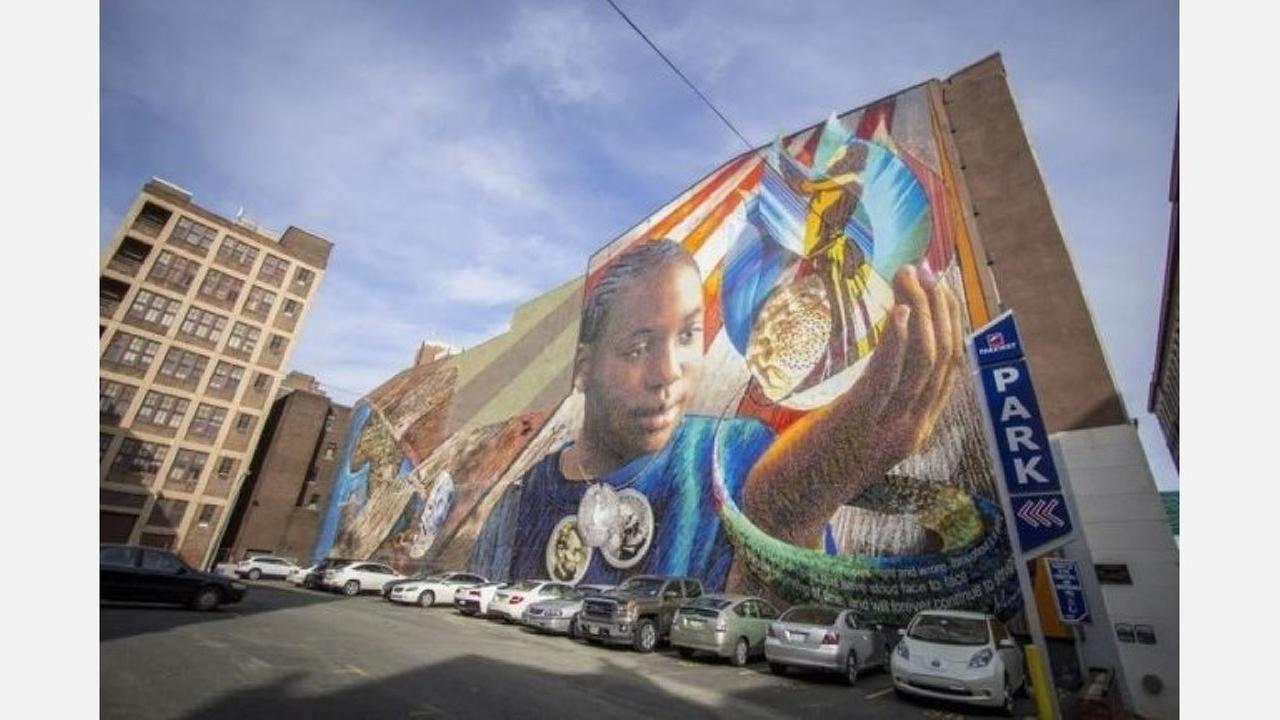 "Joshua Sarantitis' ""Legacy"" mural.   Creative Commons CC0 1.0 Universal Public Domain Dedication"