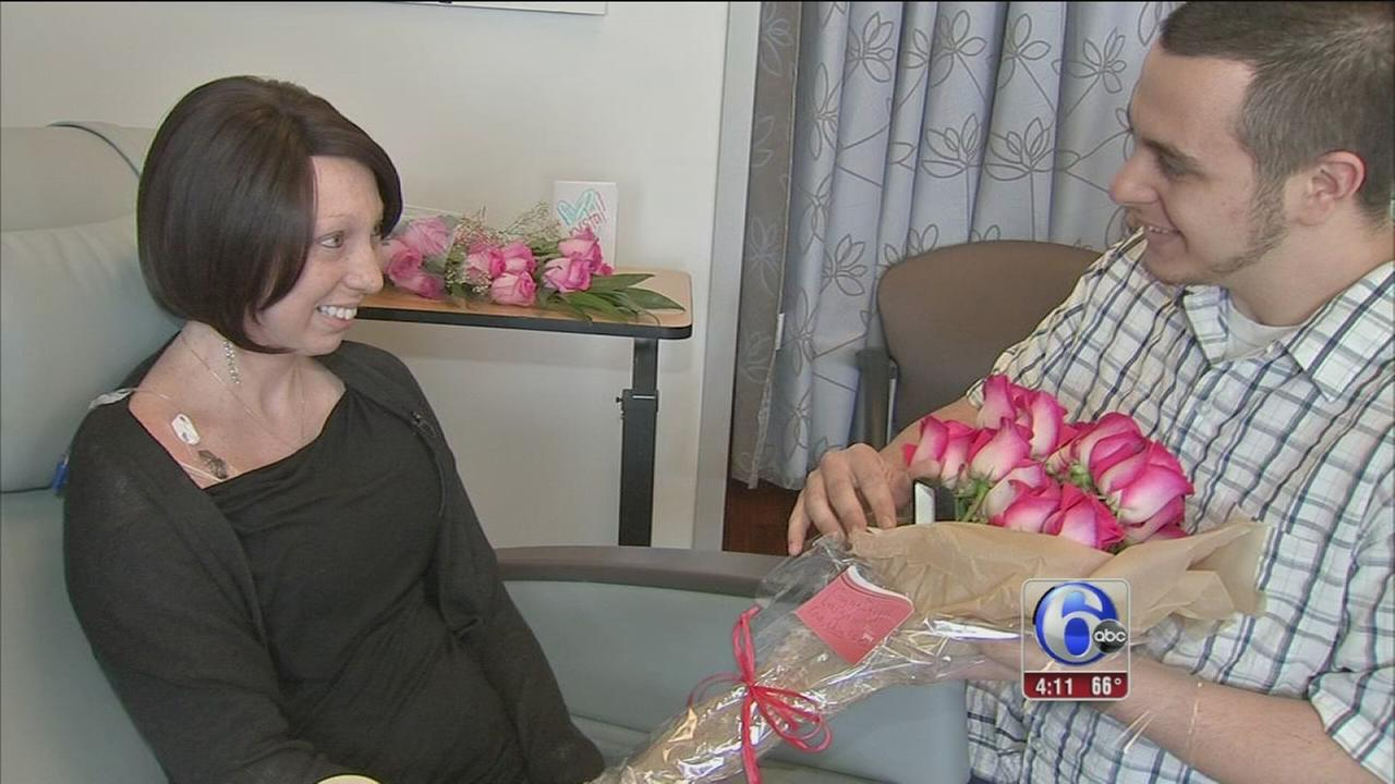 Romantic surprise on last day of chemo