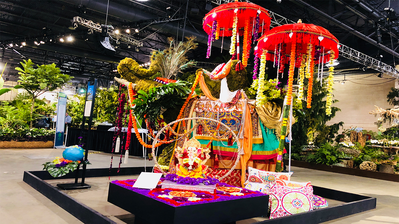The flowers are in full bloom at the Philadelphia Flower Show.