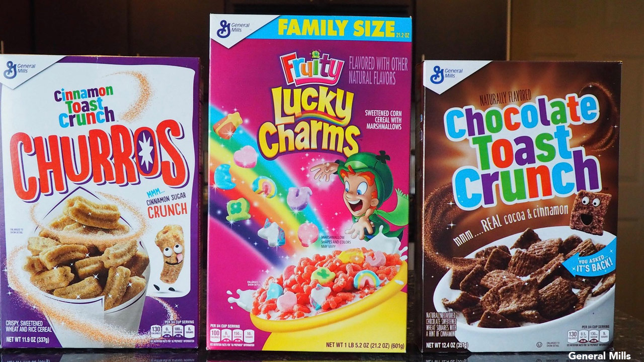 General Mills announces new cereals: Cinnamon Toast Crunch Churros, Fruity Lucky Charms, Chocolate Toast Crunch