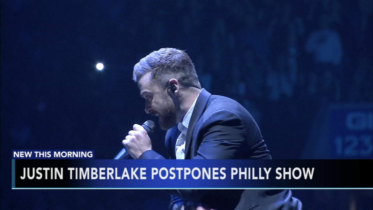 Justin Timberlake postpones December 17th Philadelphia show: Matt ODonnell reports during Action News at 6am on December 6, 2018.