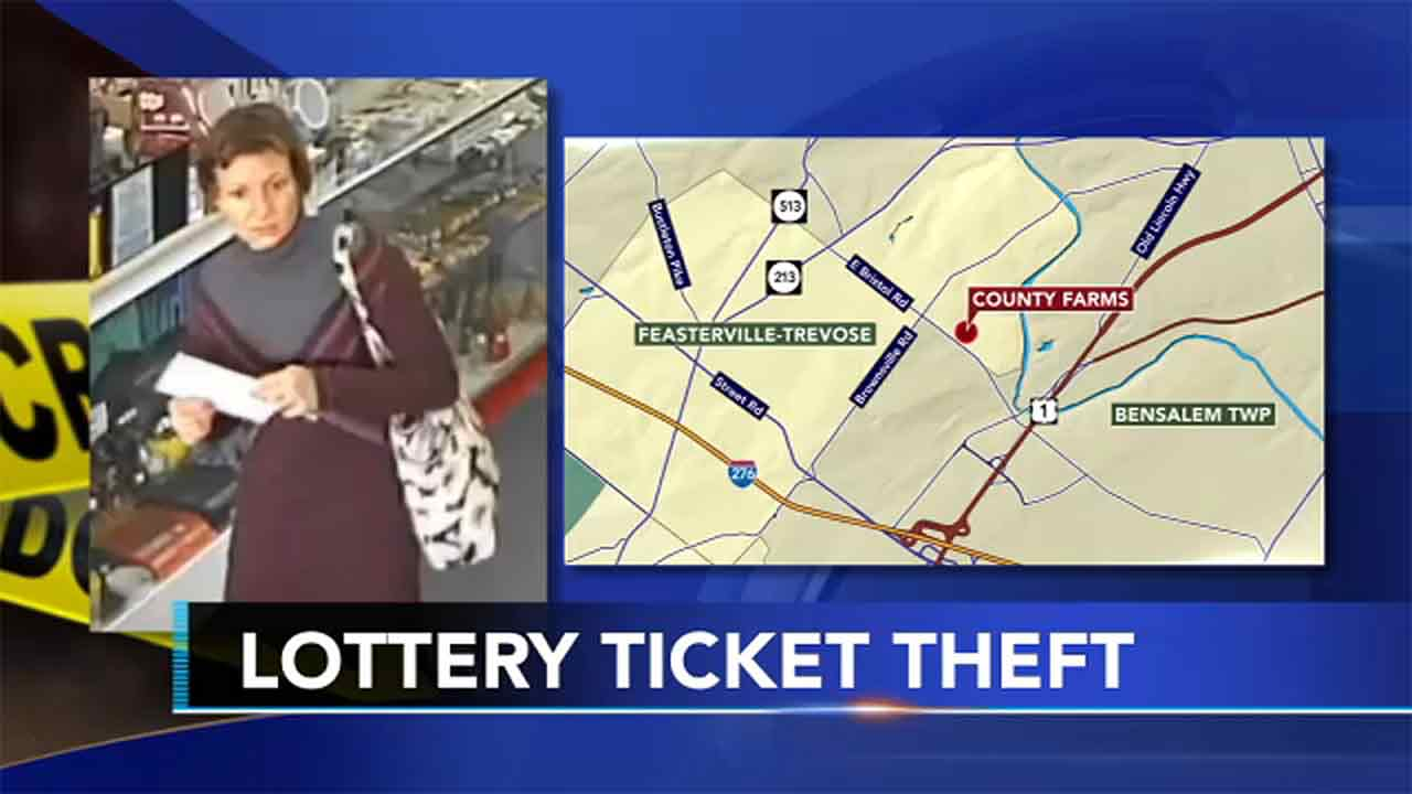 Woman steals roll of scratch-off lottery tickets from Bucks County store