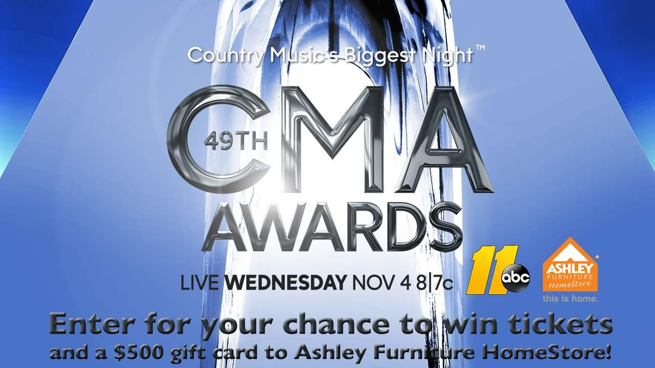 Enter for a chance to win 2 tickets to the 49th Annual Country Music Awards in Nashville