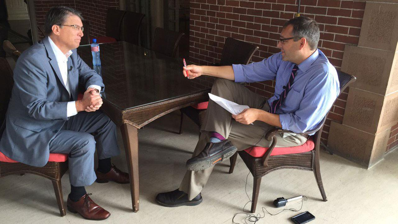 NC Gov. Pat McCrory sat down with ABC11s Jon Camp Thursday