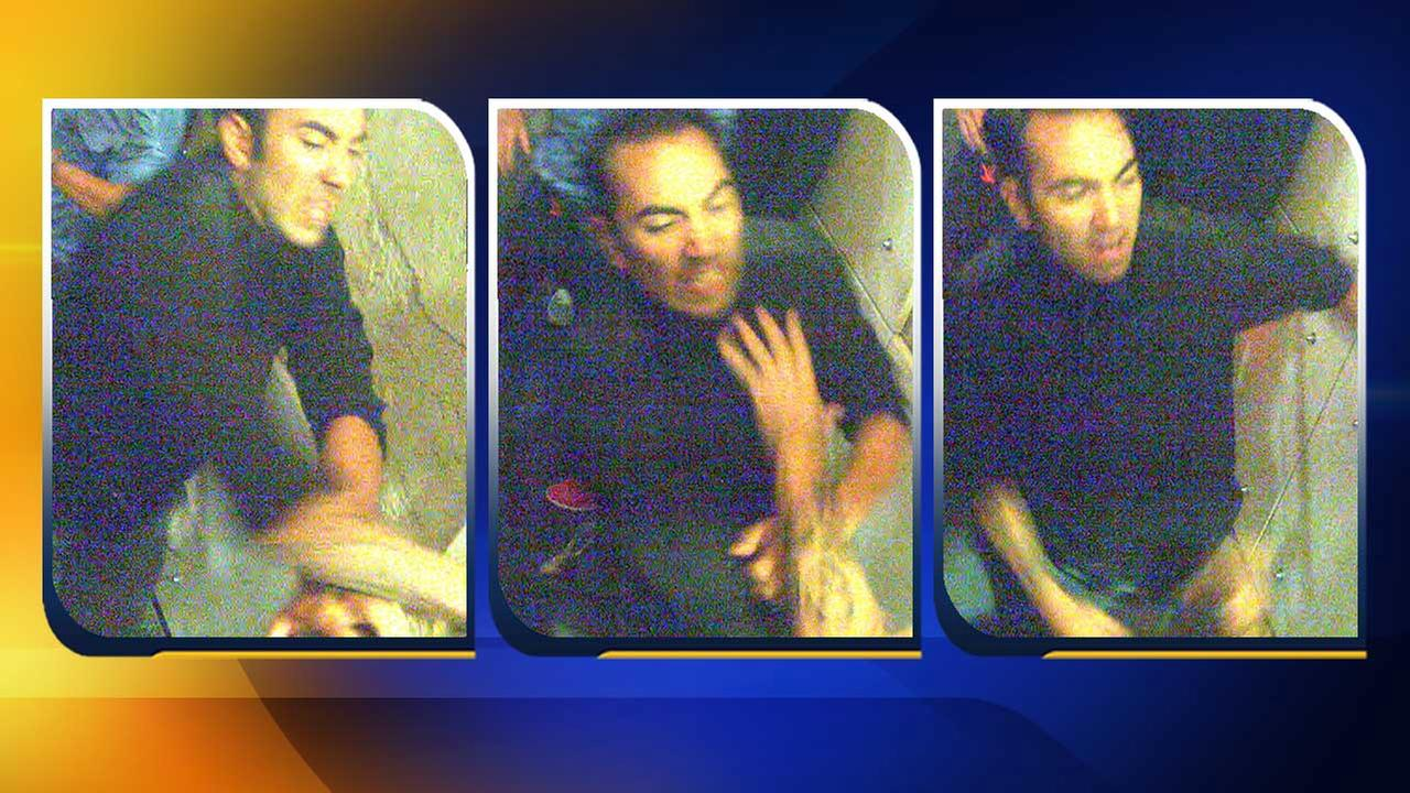 Surveillance images show an assault suspect that Raleigh police officers are working to find