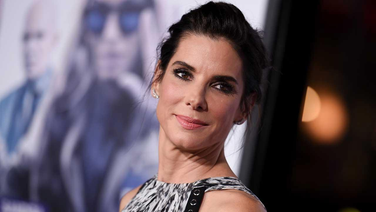 Actress Sandra Bullock arrives at the LA Premiere of Our Brand is Crisis held at the TCL Chinese Theatre on Monday Oct. 26, 2015, in Los Angeles.