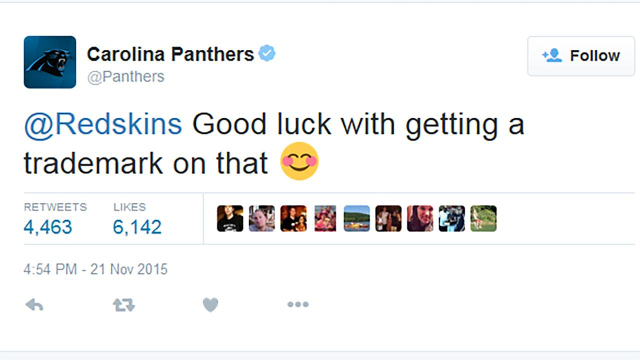 Panthers shut down Redskins' Twitter trash talk