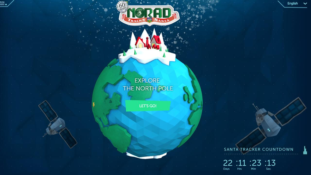 Homepage of noradsanta.org