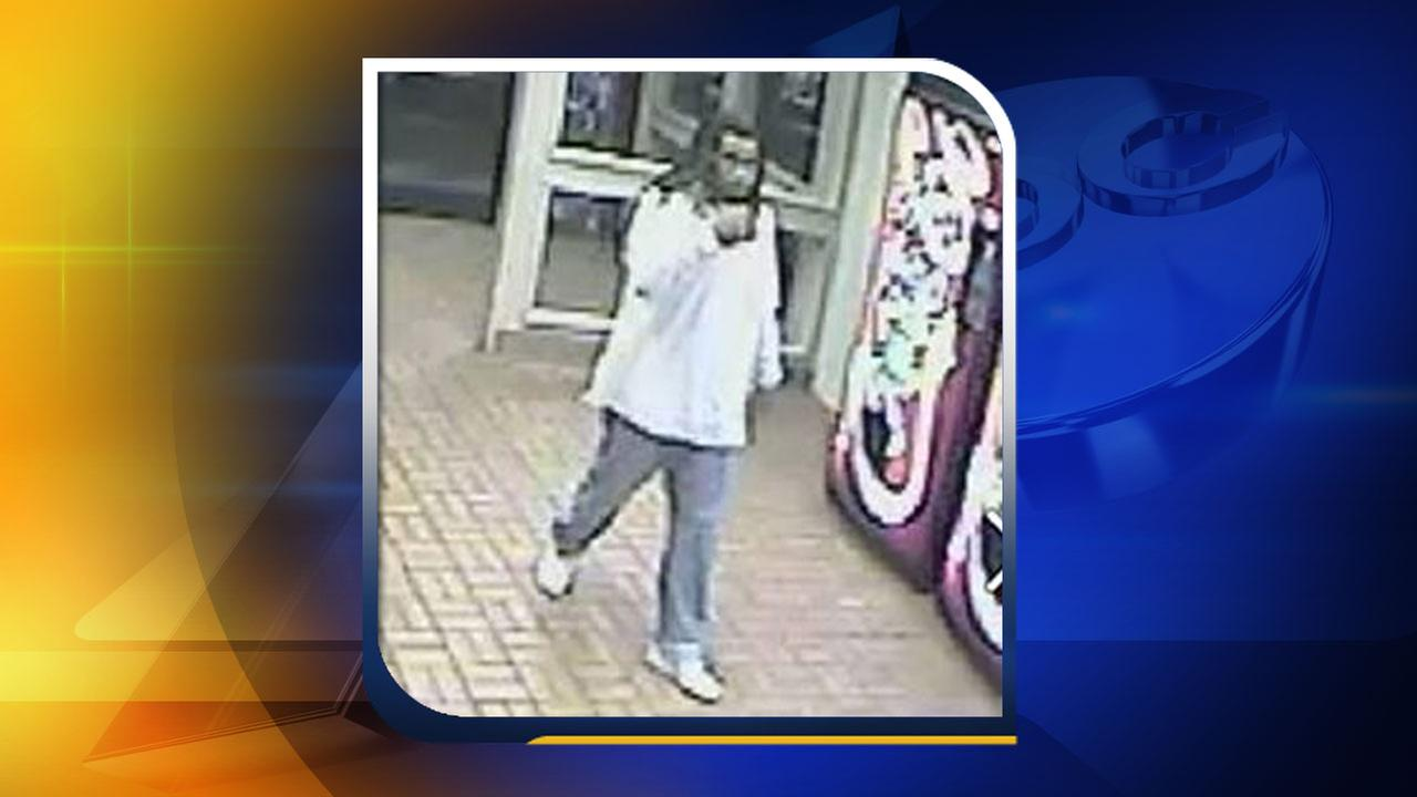 Surveillance video image from Cabarrus County rest stop