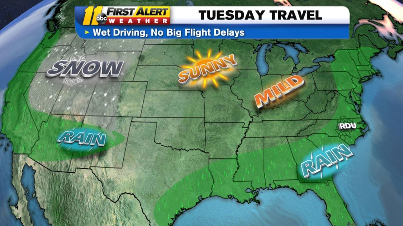 Traveling? Here's what the weather will be like over holiday