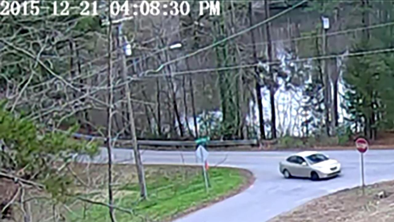 The suspects vehicle was captured on a security camera.