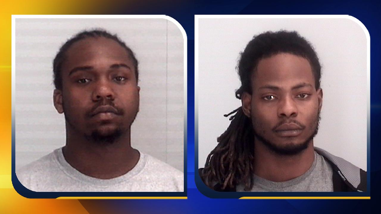 Ramone Jamarr Alston, left, and Pierre Je Bron Moore have been charged with first-degree murder.