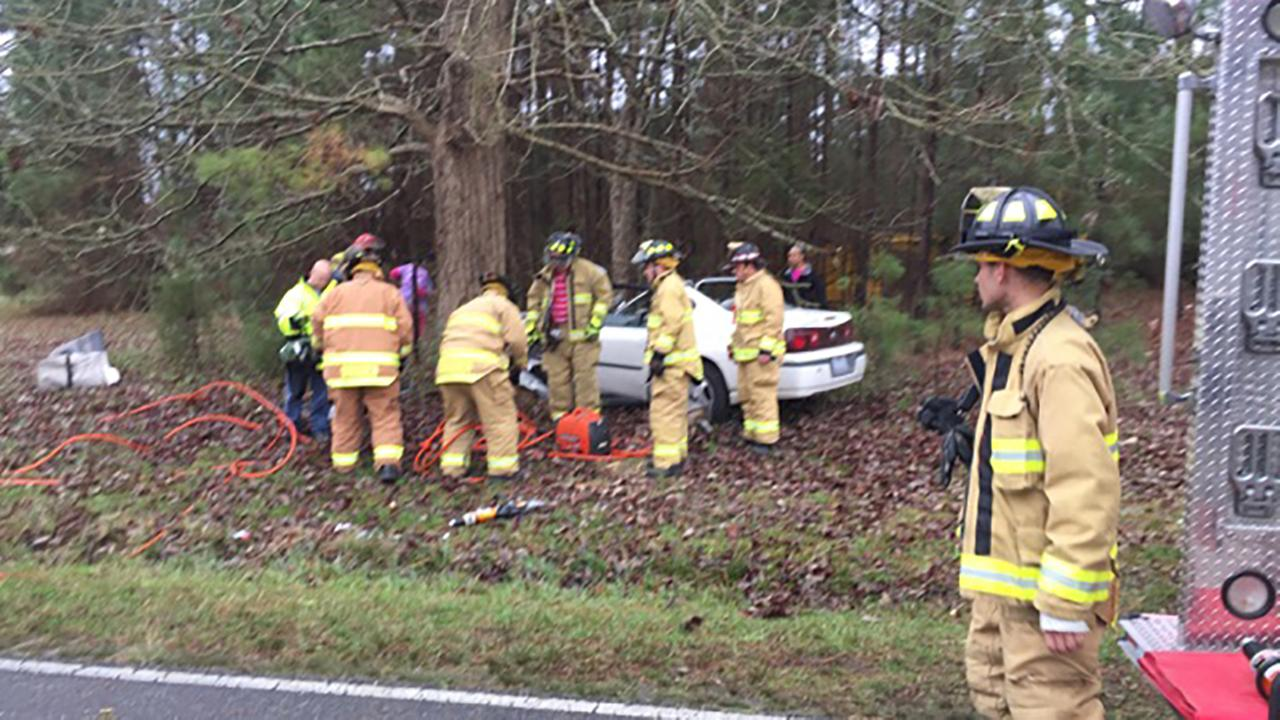 Accident on Brogden Road in Johnston County
