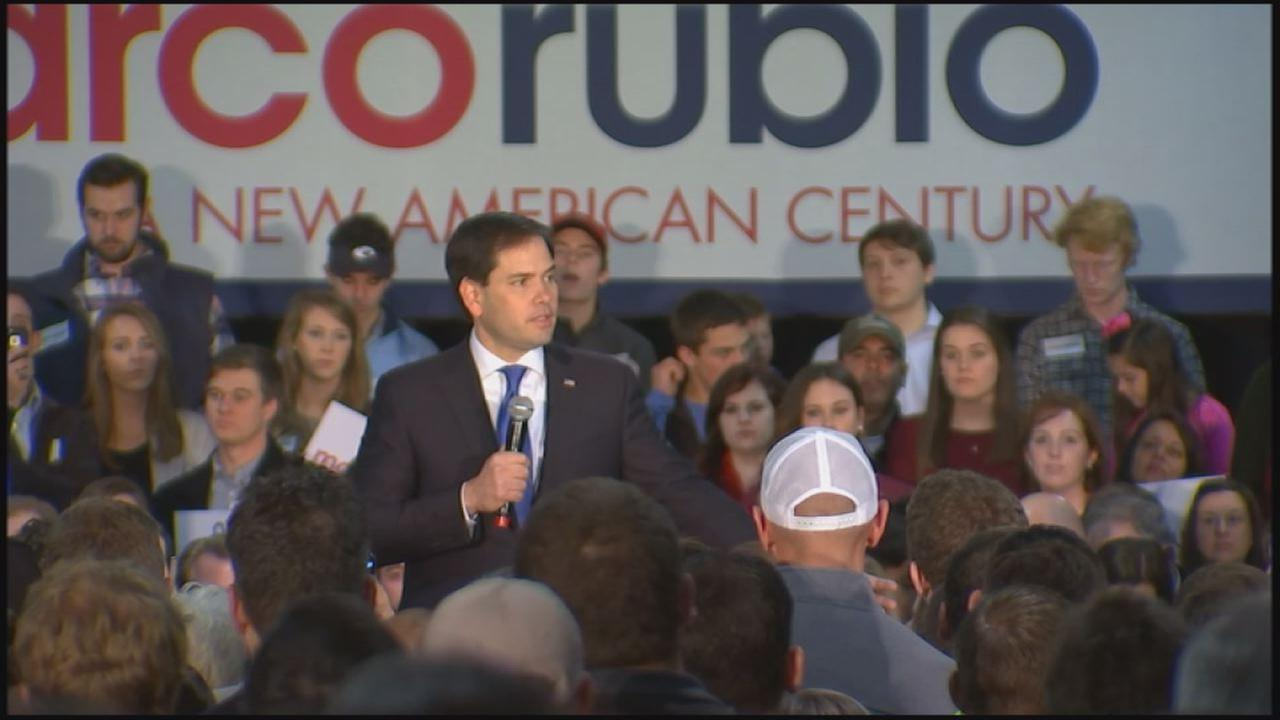 Marco Rubio during a rally at the North Carolina State Fairground Saturday, January 9, 2016