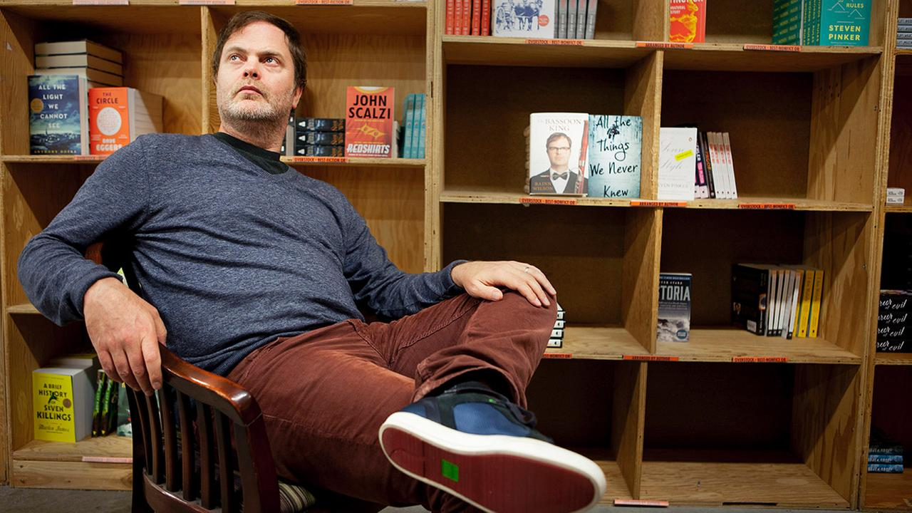 Rainn Wilson poses for a portrait in promotion of his new book The Bassoon King at Powells Books in Portland, OR. on Sunday, Nov. 15, 2015