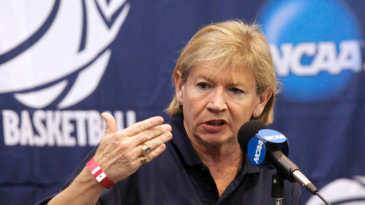 North Carolina head coach Sylvia Hatchell talks during a news conference about their second round NCAA womens college basketball game, Sunday, March 20, 2011, in Albuquerque, N.M. North Carolina faces Kentucky in a second round game on Monday.