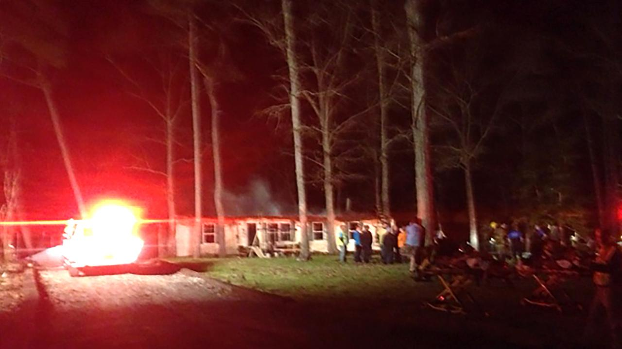 The mobile home was a total loss.