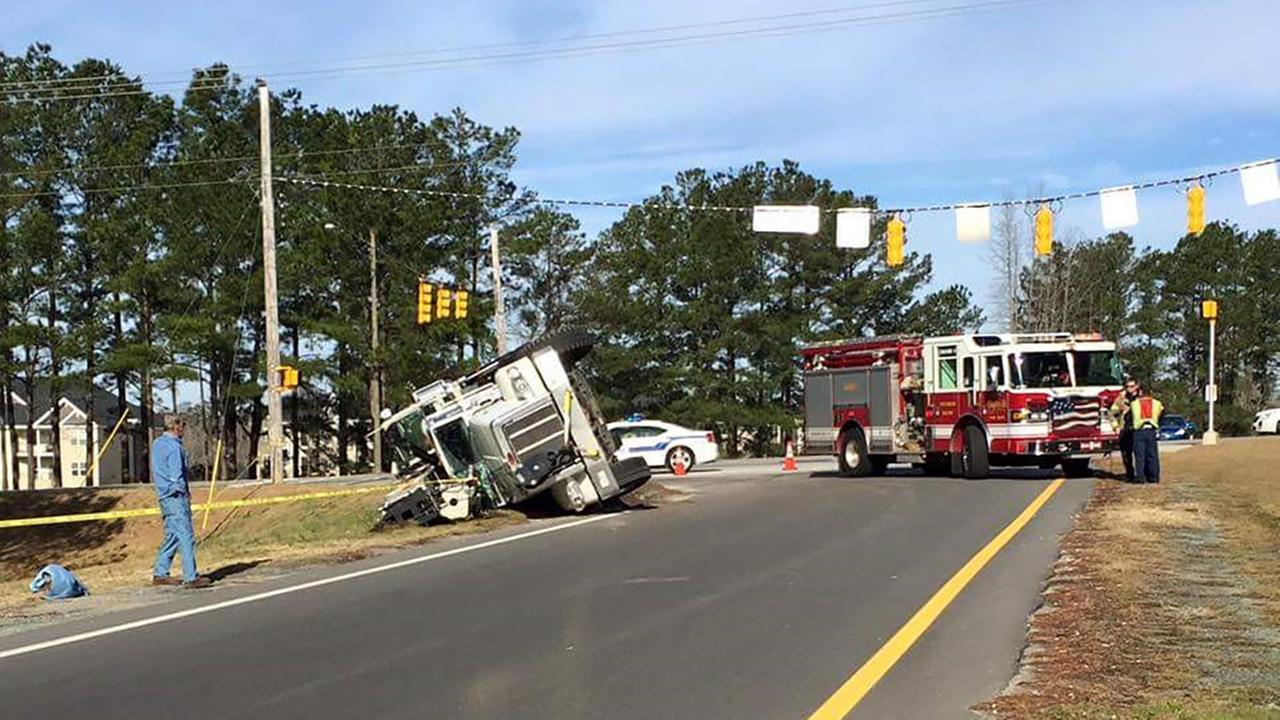 Crane accident on All American Freeway