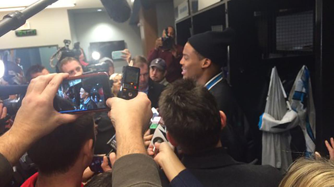 Panthers QB Cam Newton responds to criticism after walking out of Super Bowl press conference