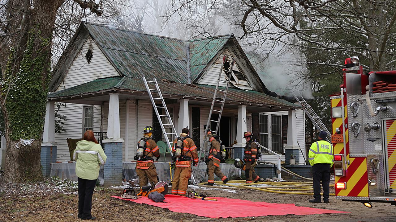 A woman, her daughter-in-law and their Chihuahua were burned out of their home.