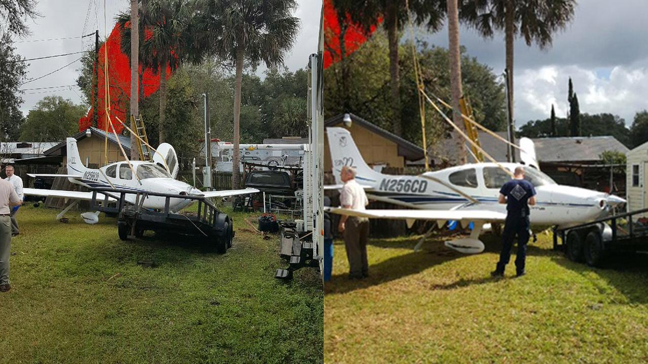 Photos from the scene of a small plane crash in Florida