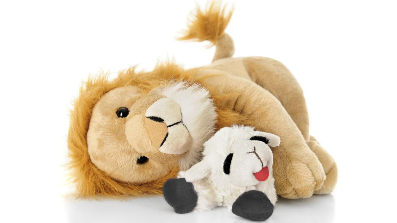 Lion and lamb stuffed animal