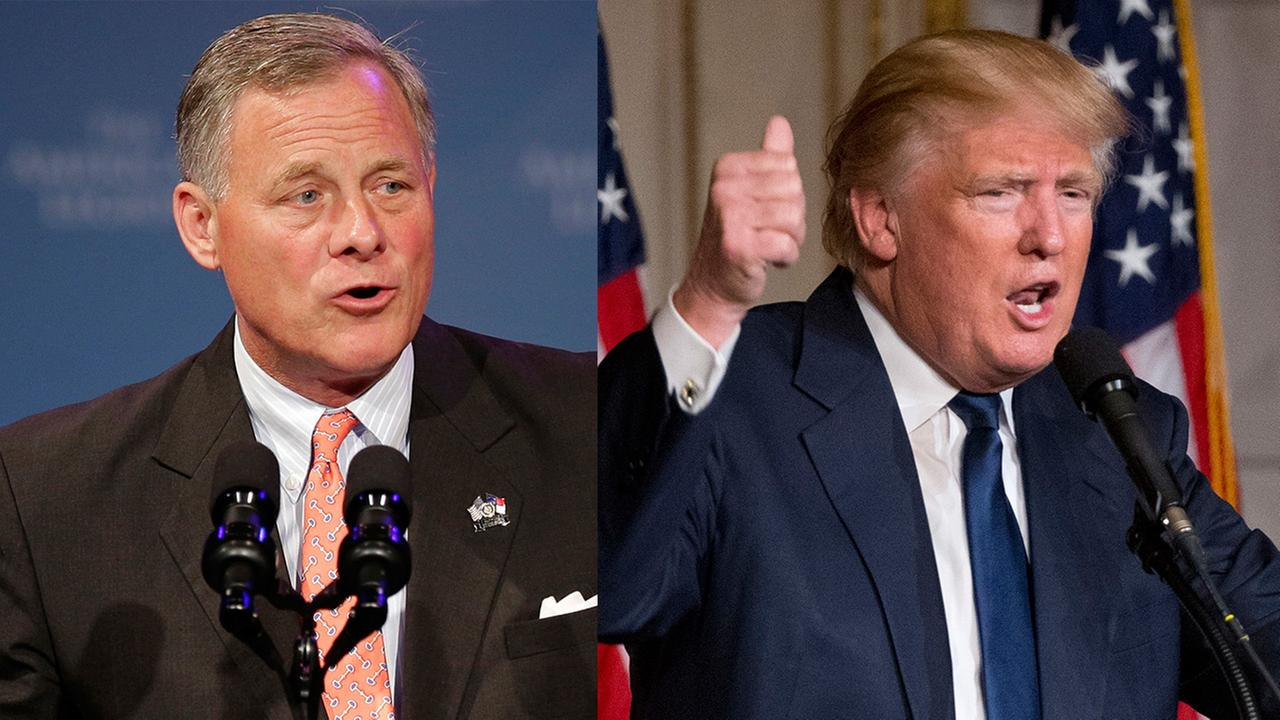 Senator Richard Burr and President Donald Trump