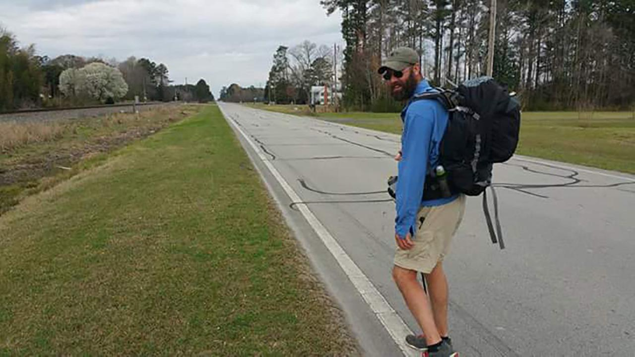 Michael Boncek is walking 2,200 miles to raise awareness for veterans suicide rate