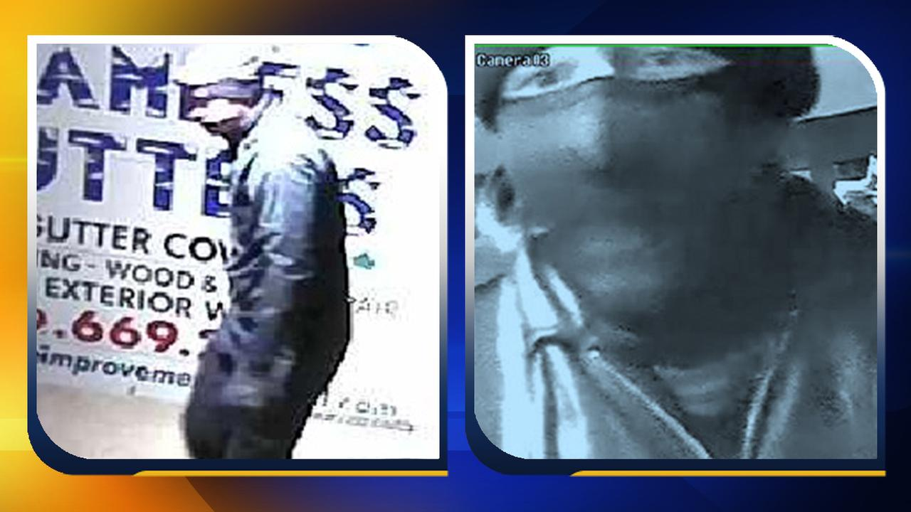 Police say this man broke into multiple businesses by entering through the roof