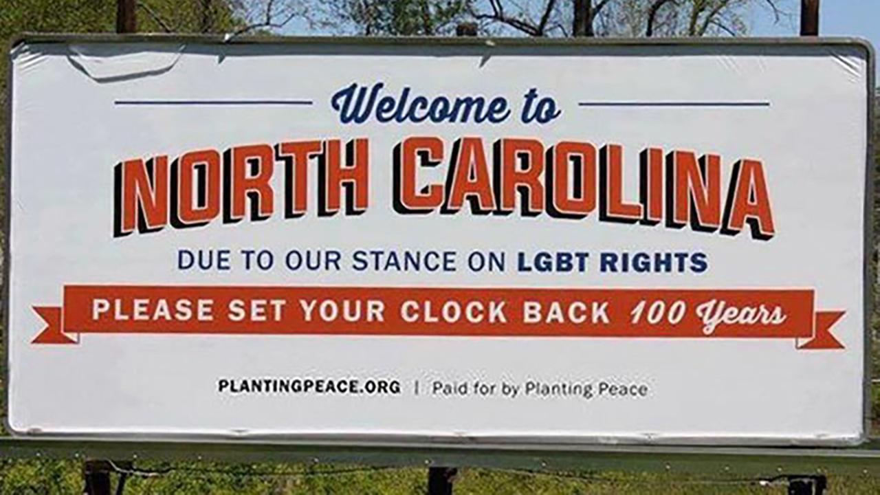 NC billboard pokes fun at Tar Heel state over HB2