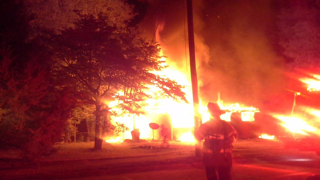House fire on Hillview Ave. in Fayetteville