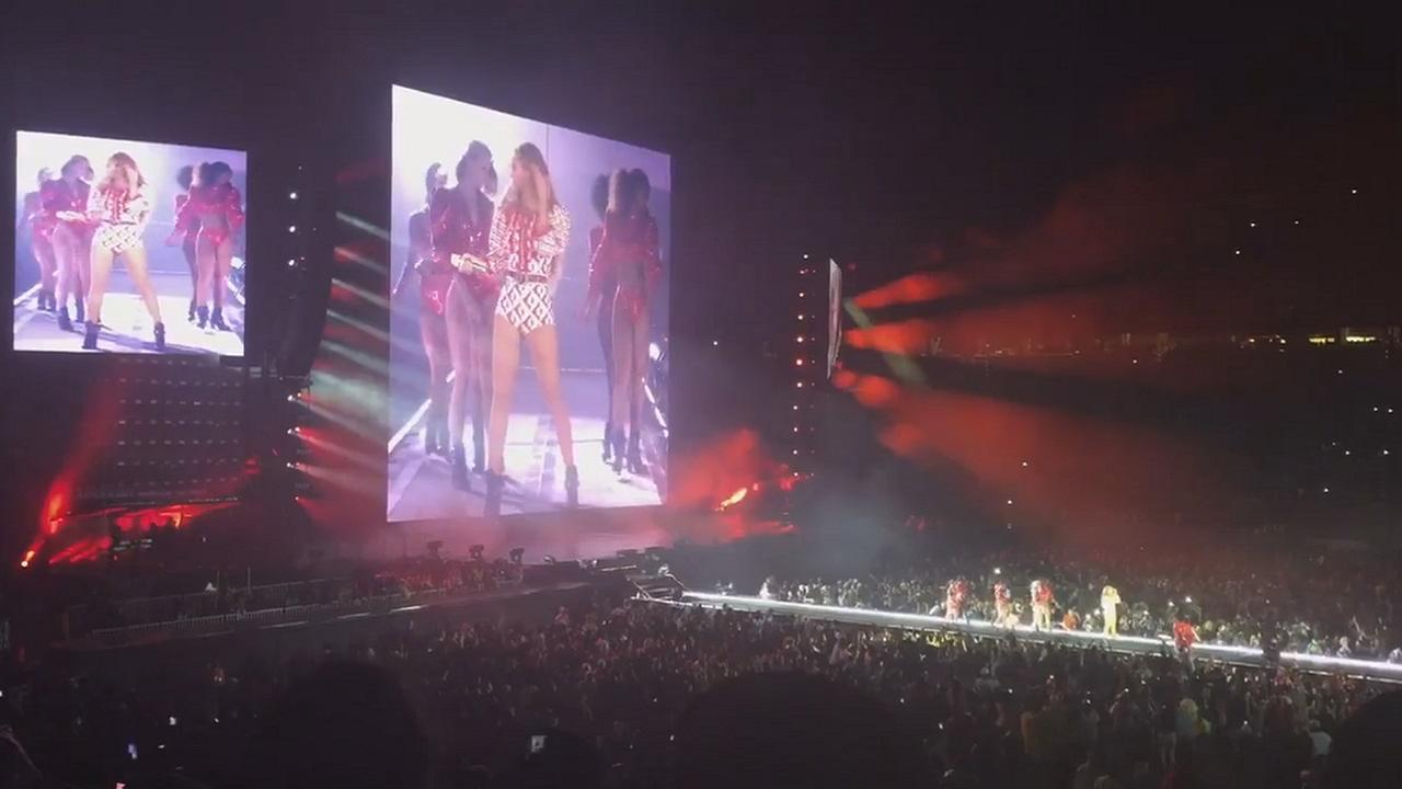 Beyonce in Raleigh at Carter-Finley Stadium