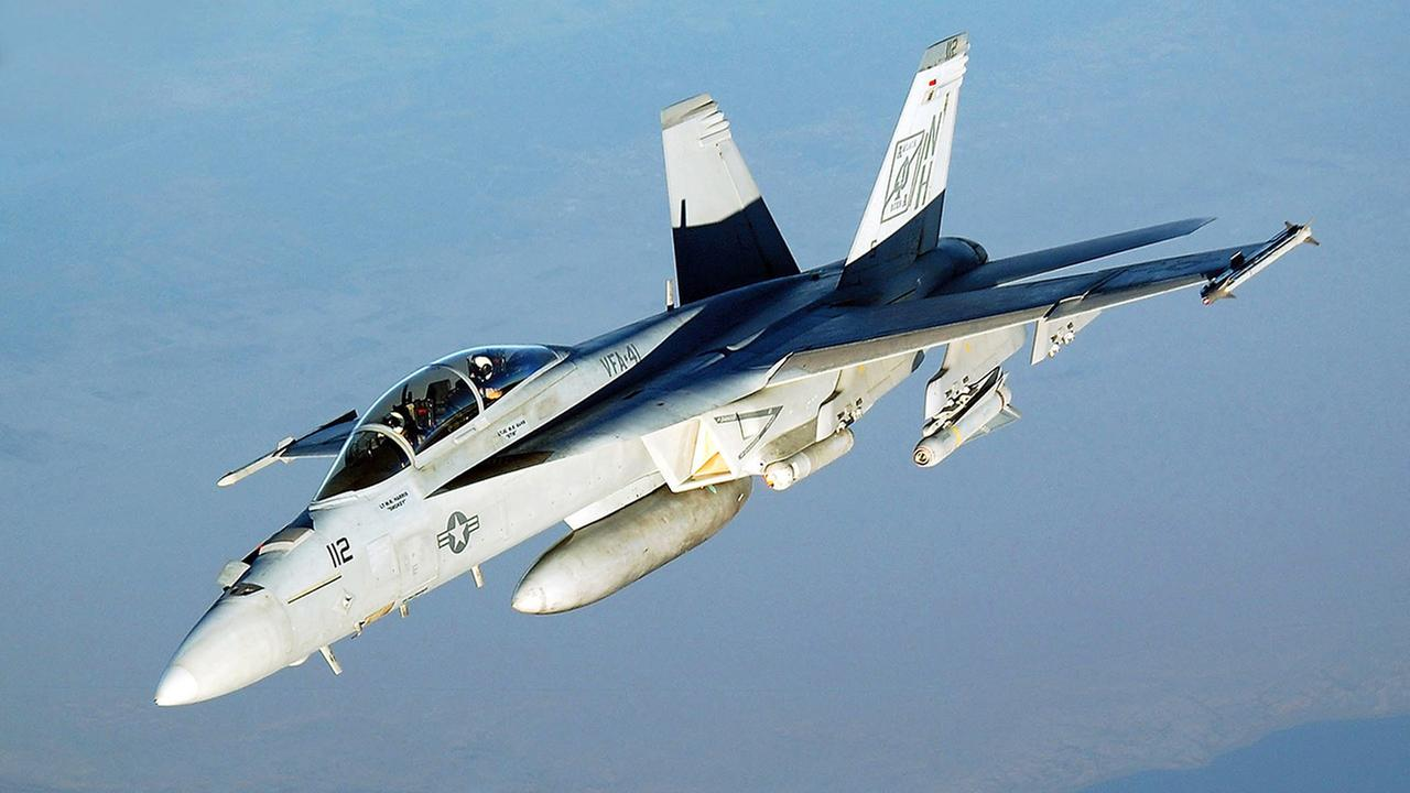 Stock photo of a US Navy (USN) F/A-18F Super Hornet