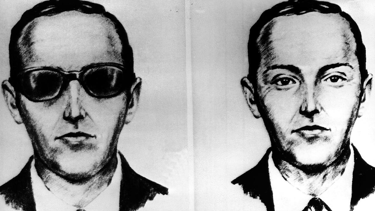 This undated artist sketch shows the skyjacker known as D.B. Cooper from recollections of the passengers and crew of a Northwest Airlines jet he hijacked