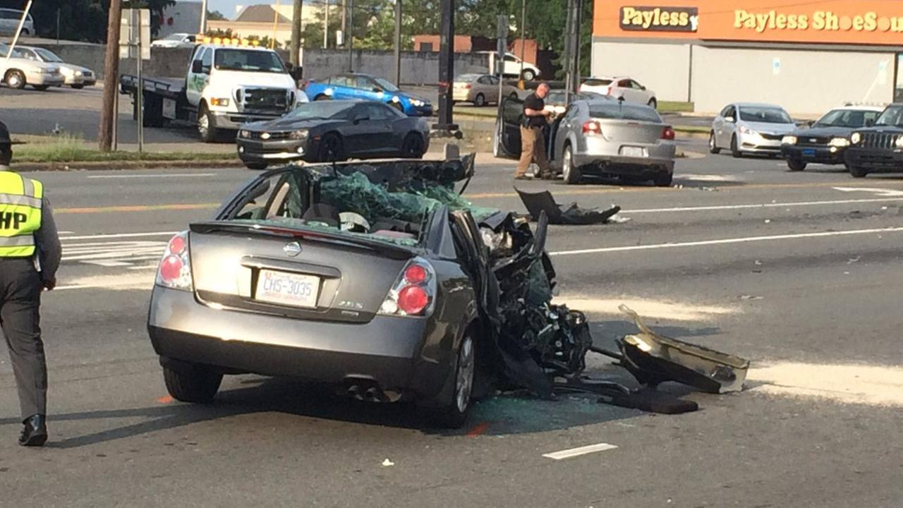 Woman killed in head-on crash after police chase in Gastonia