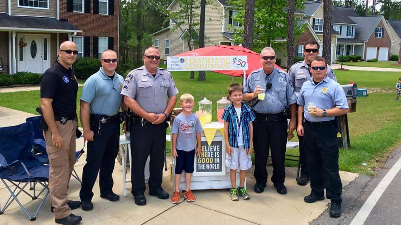 Alex and Ryan with Harnett County Sheriffs Deputies
