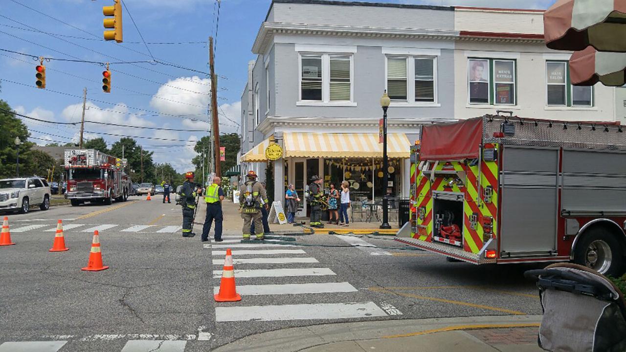 Gas leak in downtown Apex